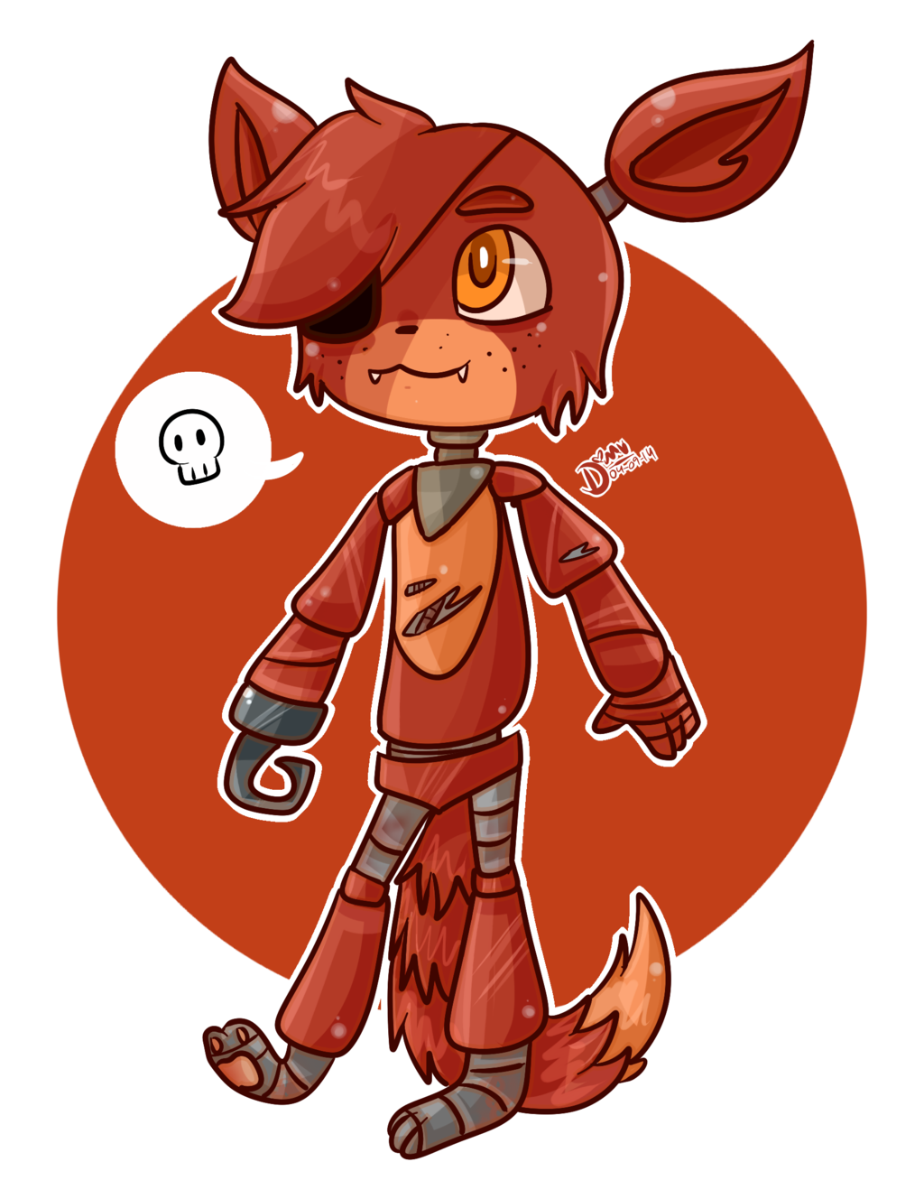 clip freeuse library Chibi Foxy by chicapitufa