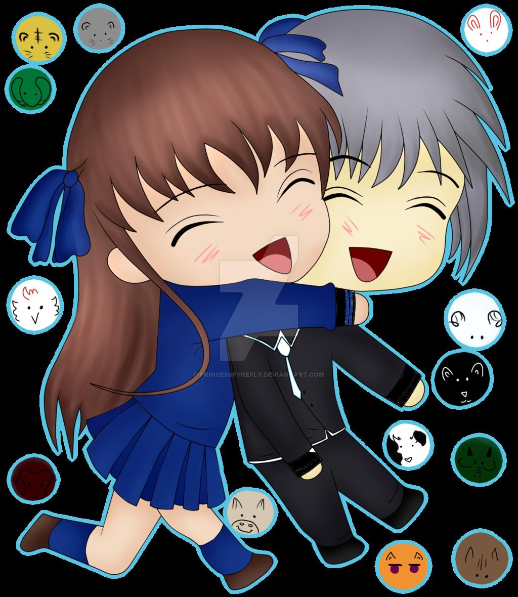 royalty free stock Tohru hugging Yuki