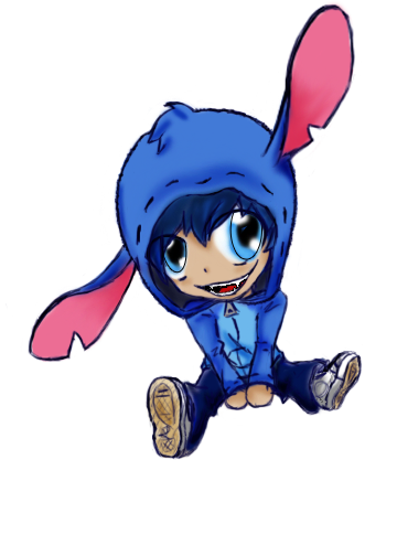 banner stock Drawing stitch anime. Human chibi by marlienicole