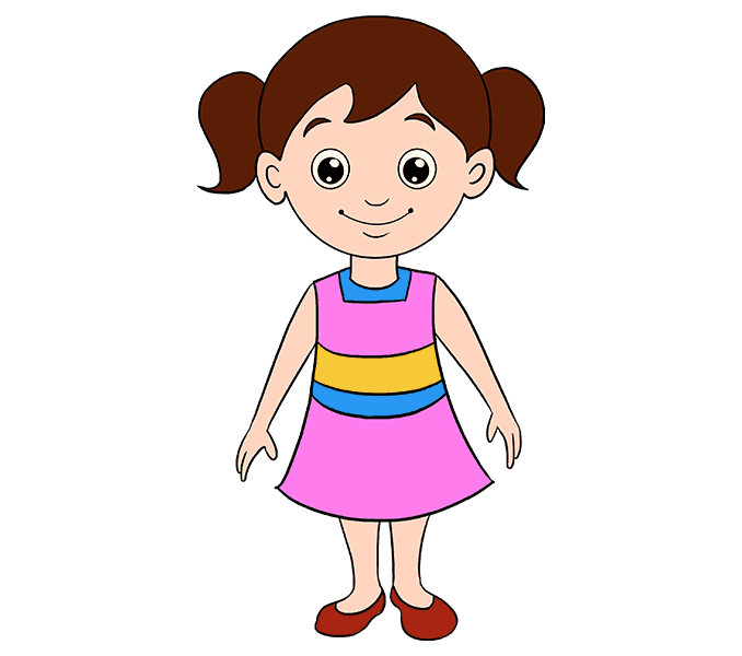svg black and white stock Cartoon Child Drawing at GetDrawings