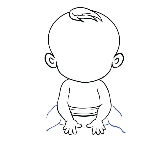 banner free stock Baby Easy Drawing at GetDrawings