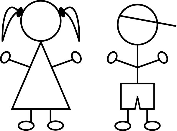 clip art black and white stock Collection of free Drawing kids design