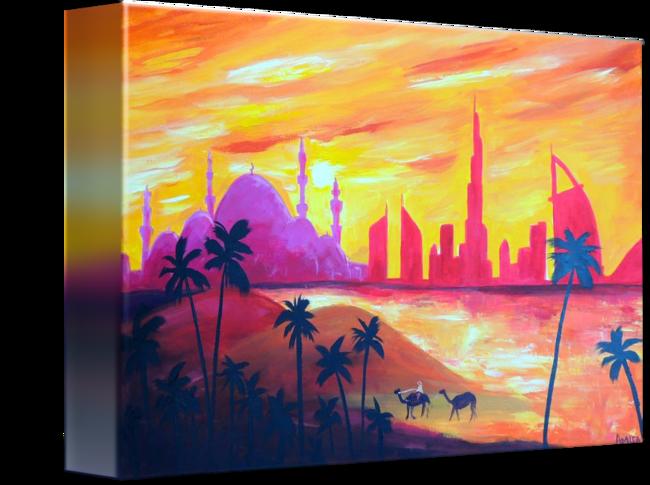 vector library stock Abu Dhabi Sunset