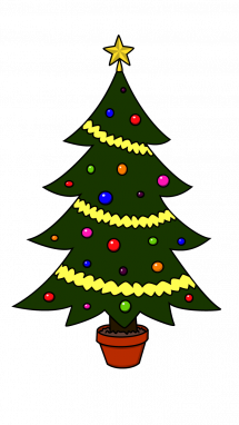 svg library How to draw tree. Blindfold drawing christmas