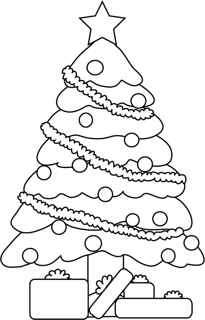 clip black and white library Blindfold drawing christmas. Line of a tree