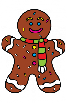 transparent Homey Ideas How To Draw A Gingerbread Man Step By GingerBread