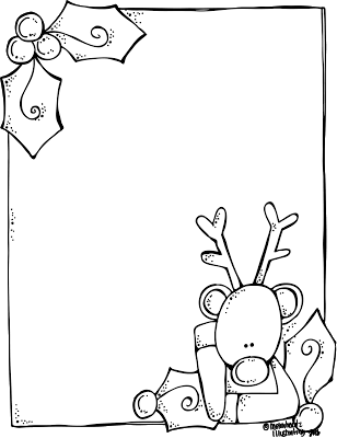 svg black and white stock Melonheadz Illustrating A blank Rudolph letter form for Santa