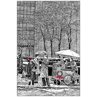 image transparent library Card grand central ipv. Drawing christmas pen and ink