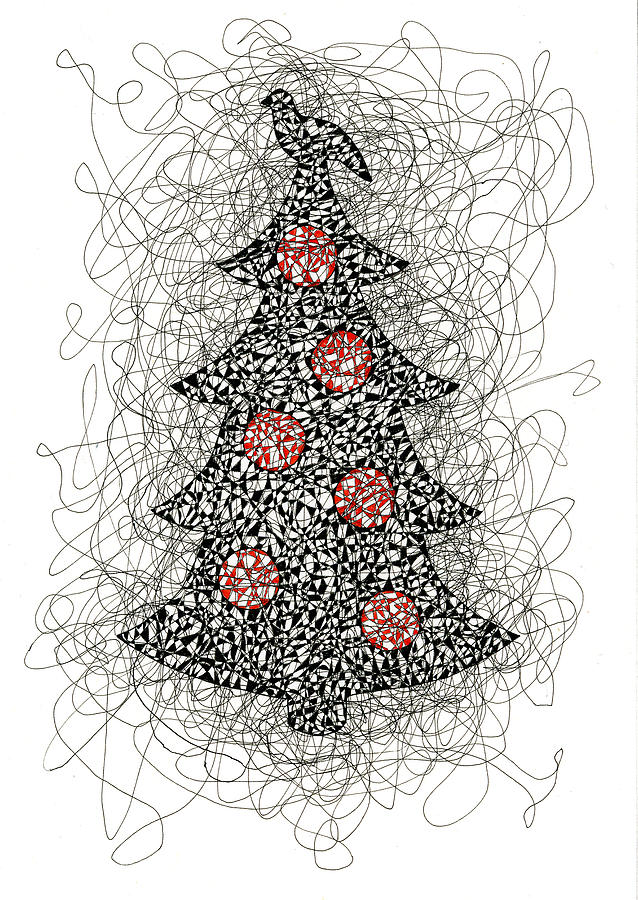 svg transparent Tree . Drawing christmas pen and ink