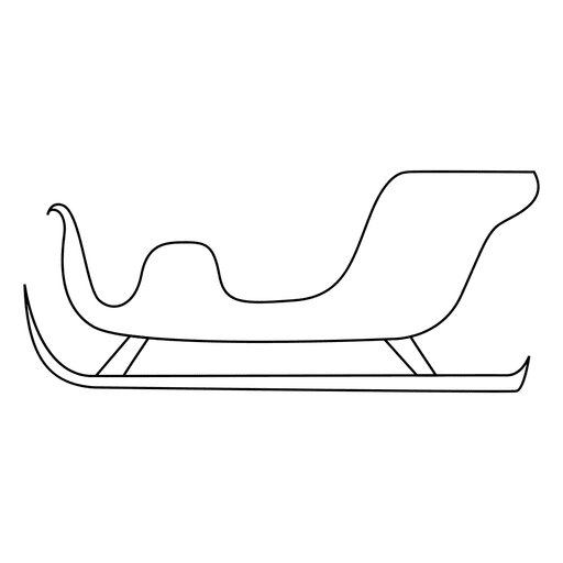 free download Christmas sleigh sliding outline