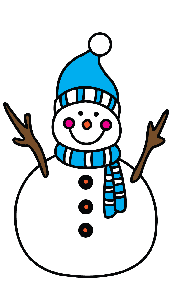 banner Collection of free Snowman drawing