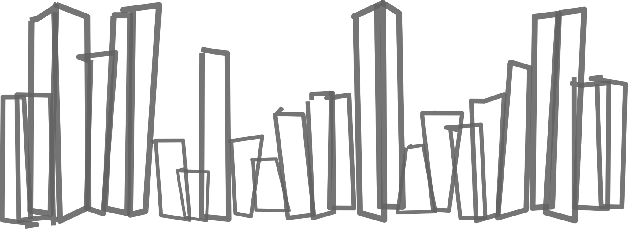 clip black and white stock New york city free. Drawing silhouette pencil