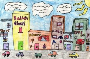 image freeuse library Drawing city kid. Draw buildings art and
