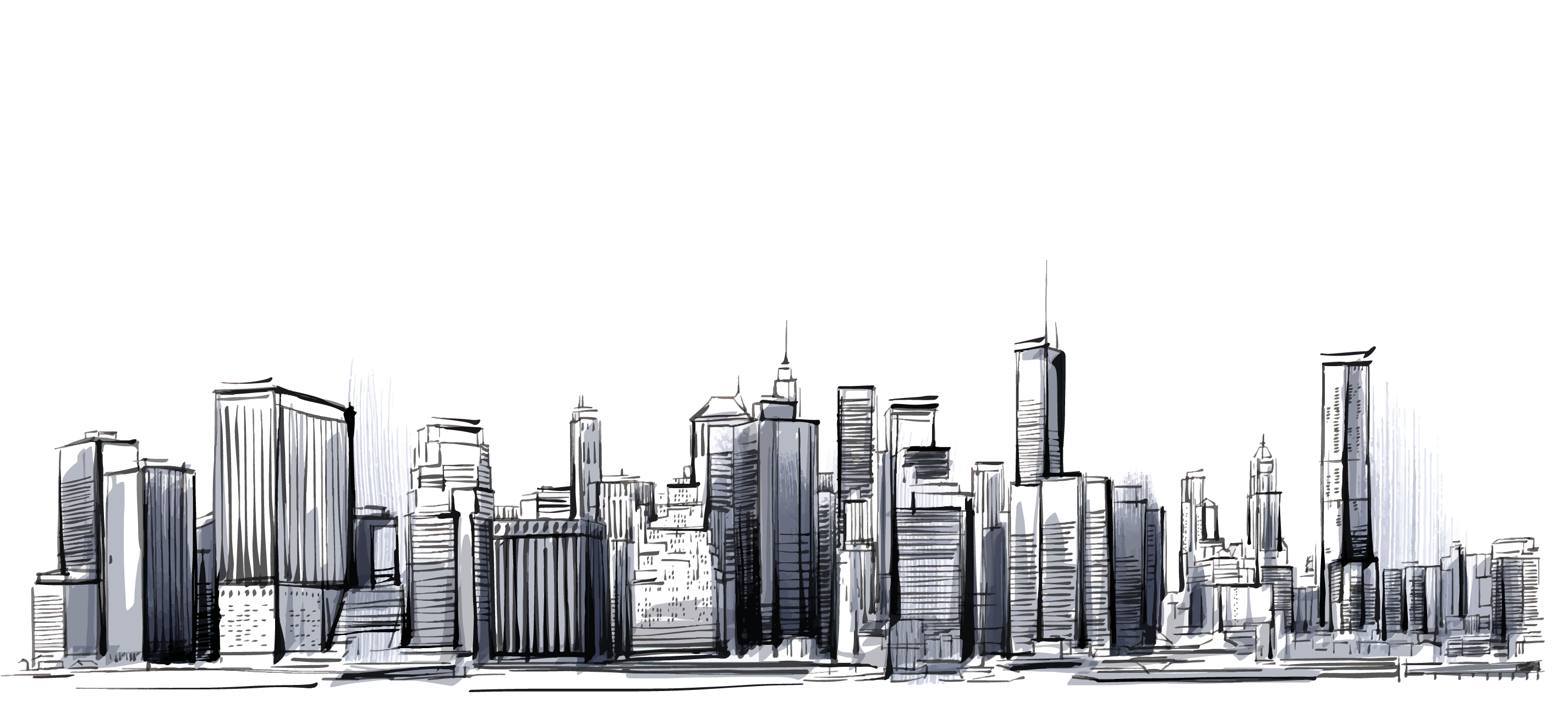 png stock Manhattan cities skylines transprent. Drawing city