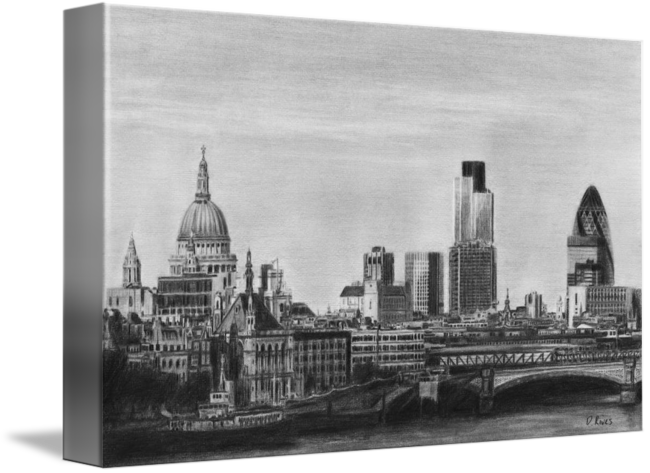 graphic free download Drawing cityscapes. London skyline pencil by