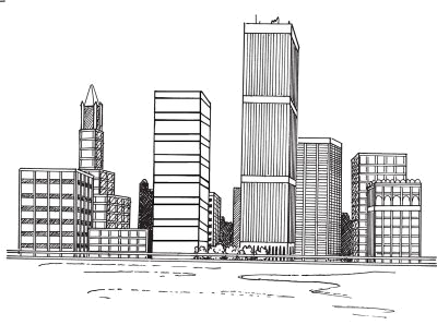 banner download Editor de fotos online. Drawing cityscapes