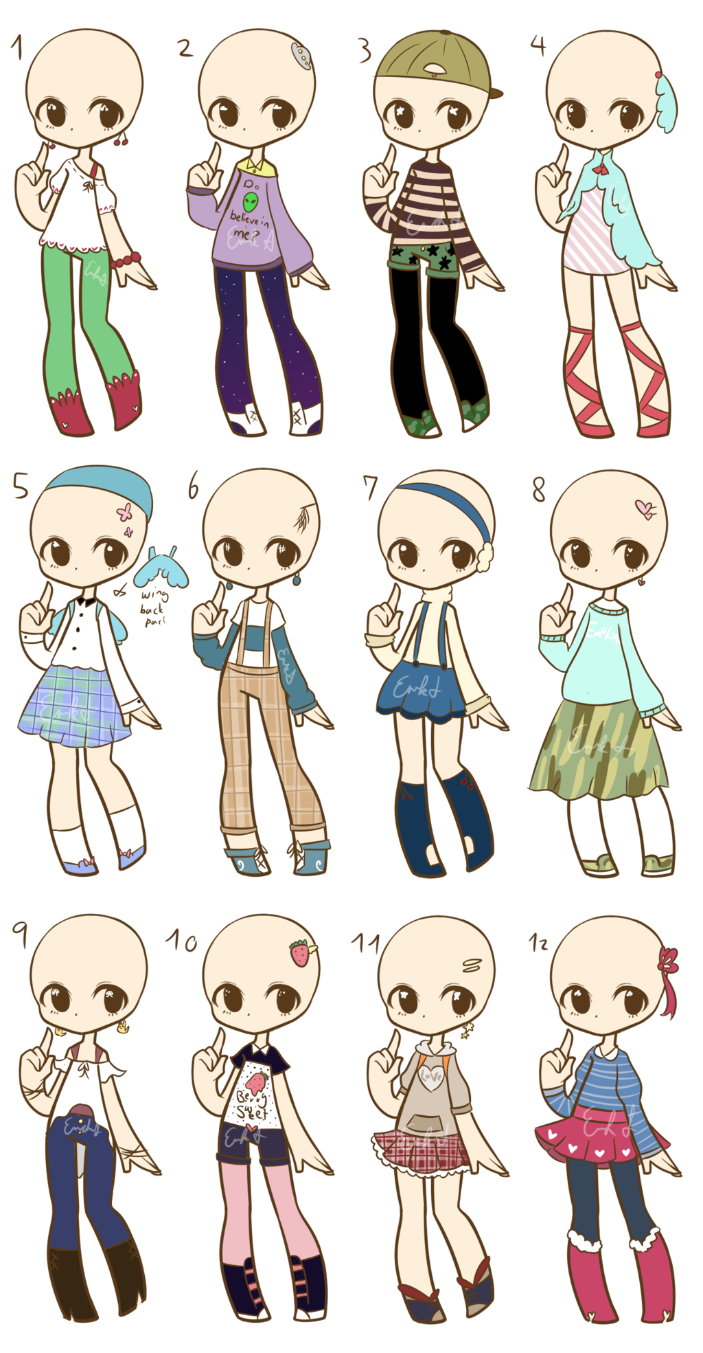 svg stock Drawing outfits cute. Ota fashion adopts closed