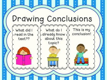 picture black and white stock Drawing conclusion. Draw conclusions poster worksheets