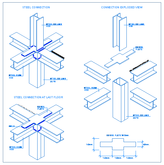 free library Structural drawing detailed. Steel connections detallesconstructivos net