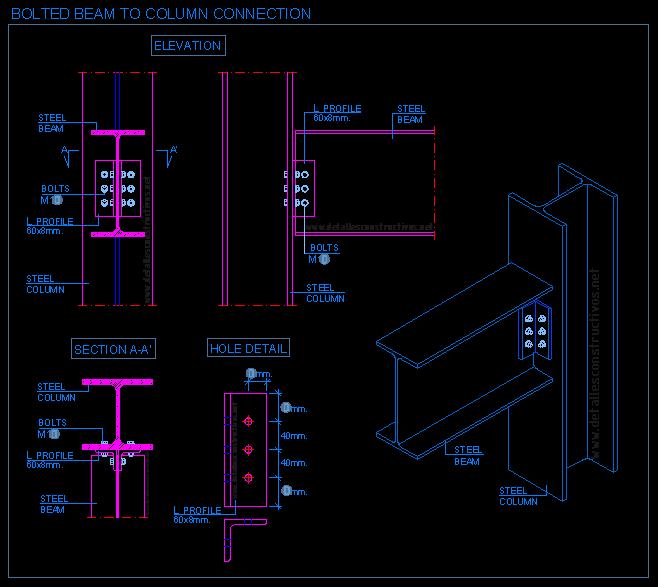 vector free download Detallesconstructivos net construction details. Bolts drawing autocad