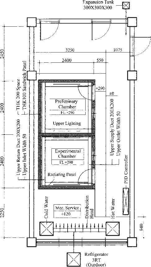 graphic freeuse stock Drawing construction. Plan of experimental chamber.