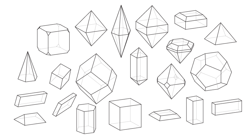 graphic free How to Draw All Crystal Shapes