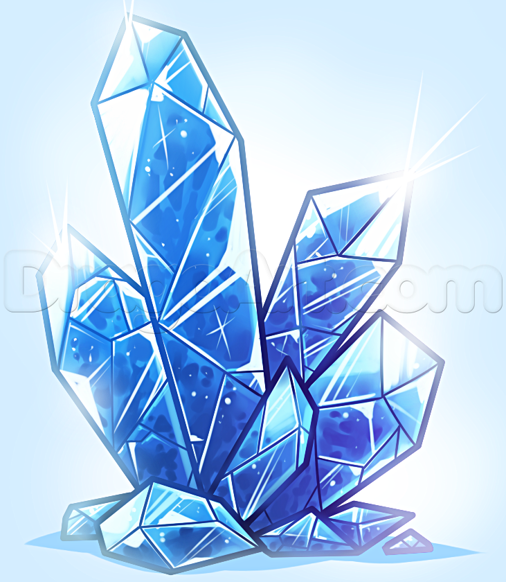 graphic royalty free how to draw crystals in