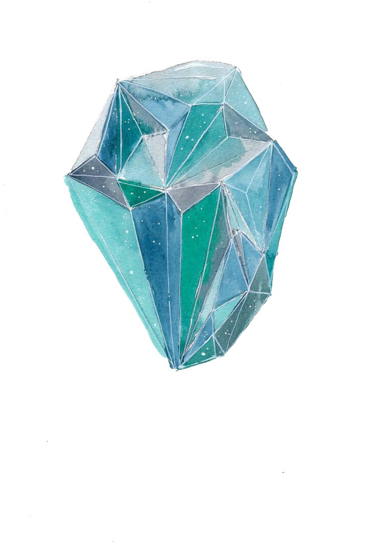 royalty free Watercolor painting Drawing Crystal Illustration