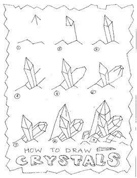 clip library How to Draw Crystals Step by Step