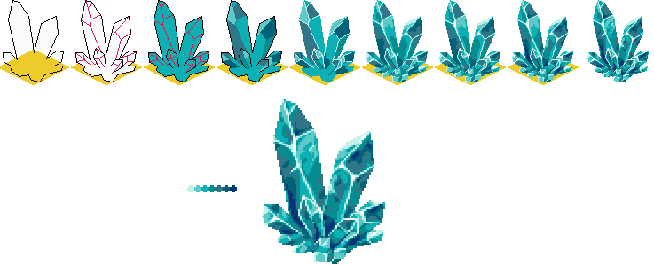 vector freeuse stock Pixel Crystal