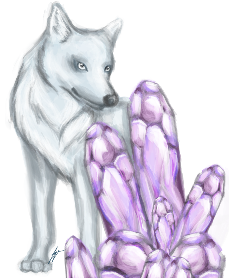 picture freeuse stock Crystal Wolf by loganfranklin on DeviantArt