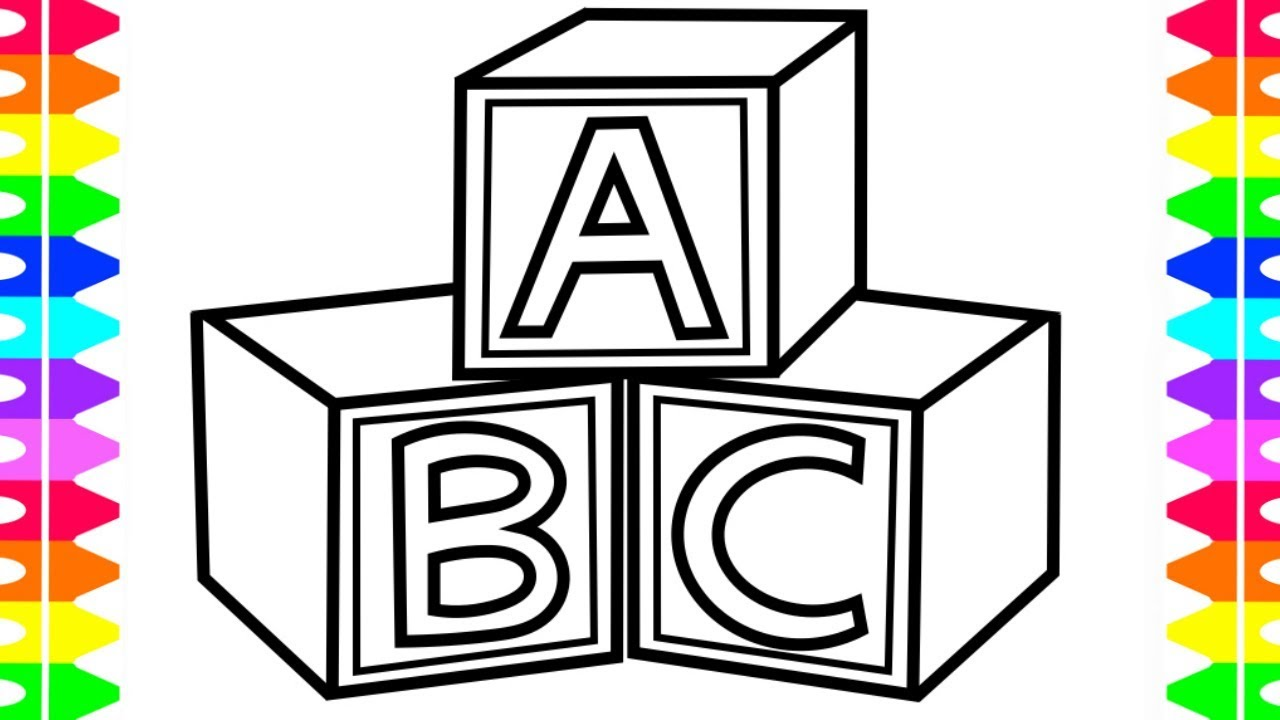 jpg royalty free How to draw abc. Block drawing easy