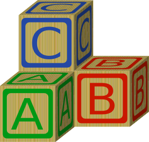 graphic black and white stock Abc Blocks Clip Art at Clker