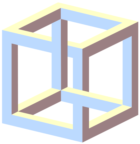 clipart freeuse stock The impossible cube