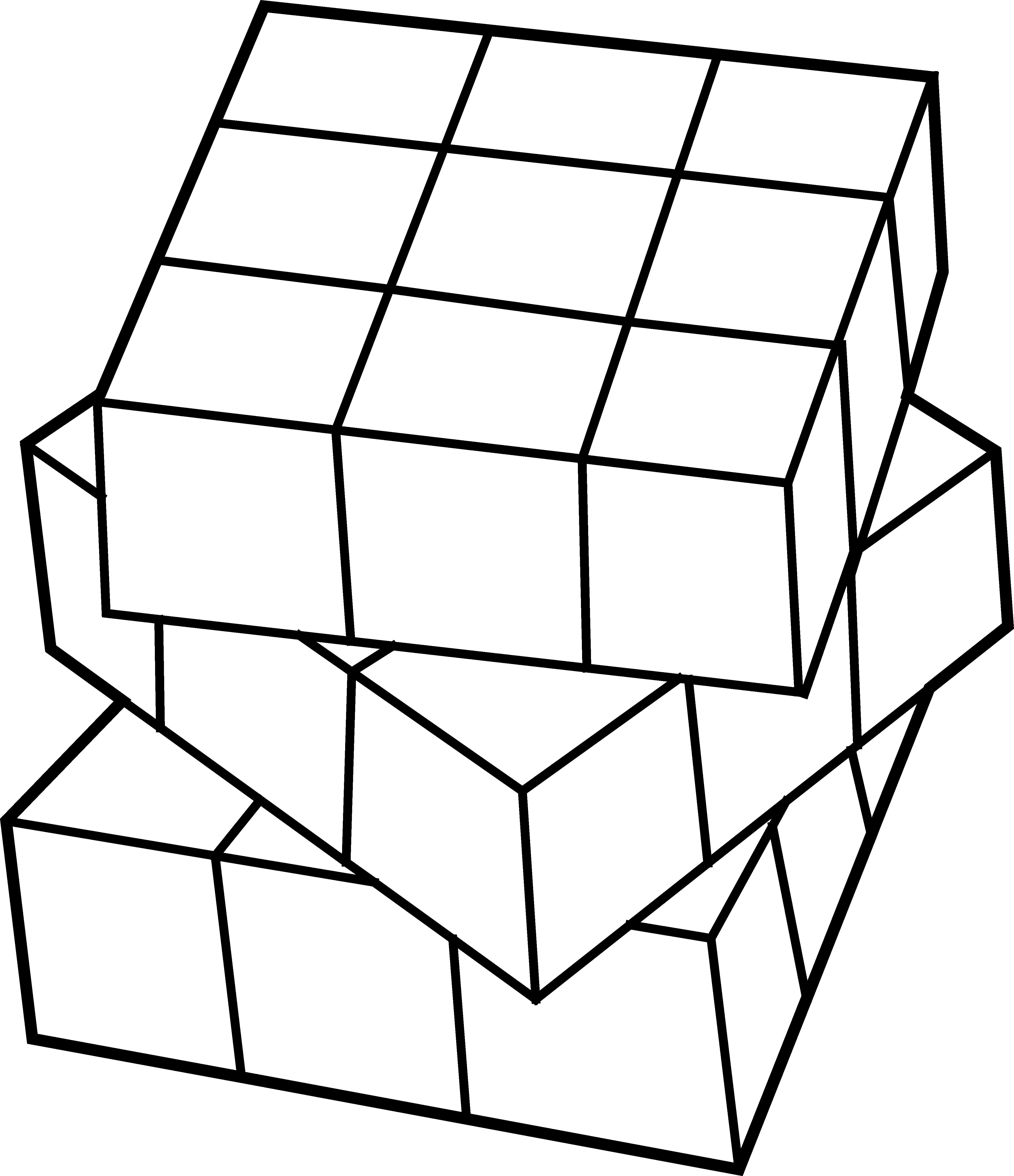 clip transparent download Rubiks Cube Line Art