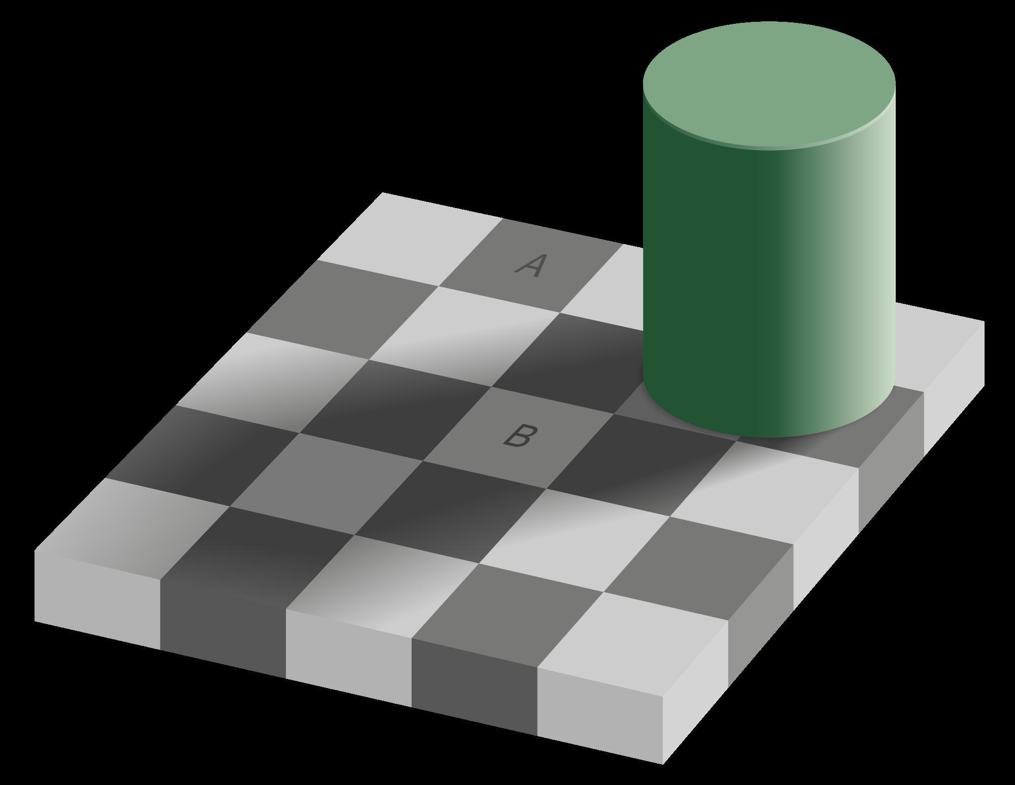 transparent stock Checker shadow illusion