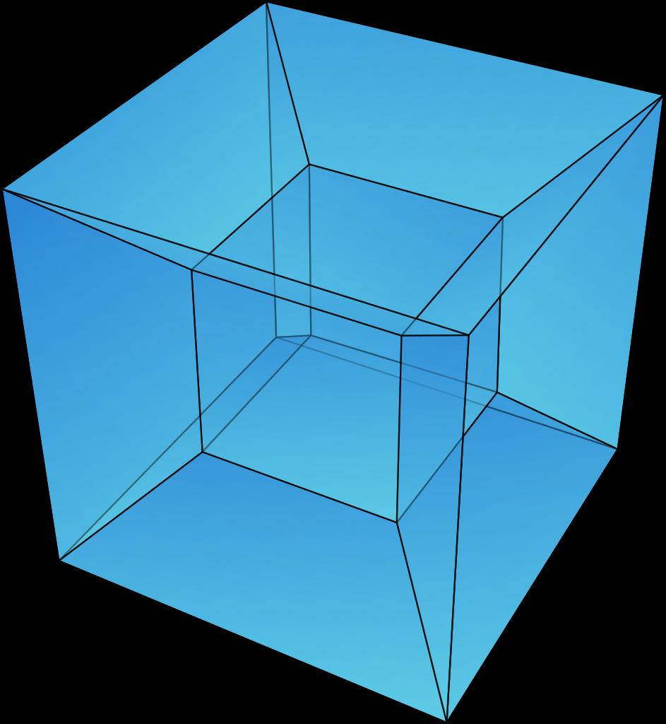 banner royalty free stock Hypercube