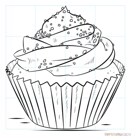 clip art freeuse library How to draw a cupcake