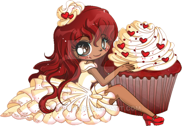 clip free download Red Velvet Chibi Cupcake Commission by YamPuff on DeviantArt