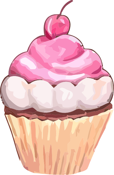 clip art transparent library Free Pink Cupcake Clip Art