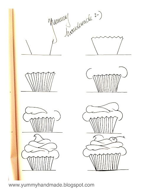 picture free library Baking drawing step by. How to draw a