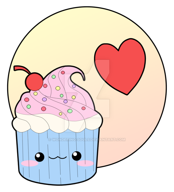 vector royalty free library Cupcake by sambeawesome on. Baking drawing chibi