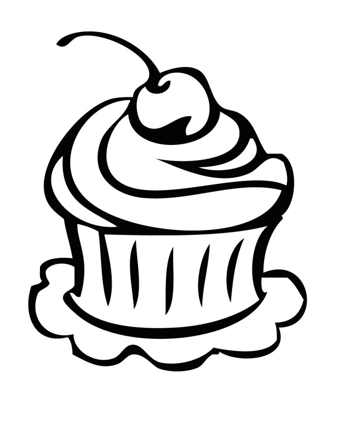graphic free library Free line download clip. Drawing cupcake cookie