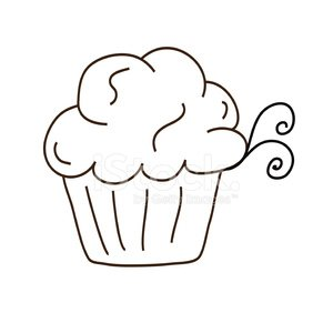 svg library library Fluffy icing line cupcake. Baking drawing swirl