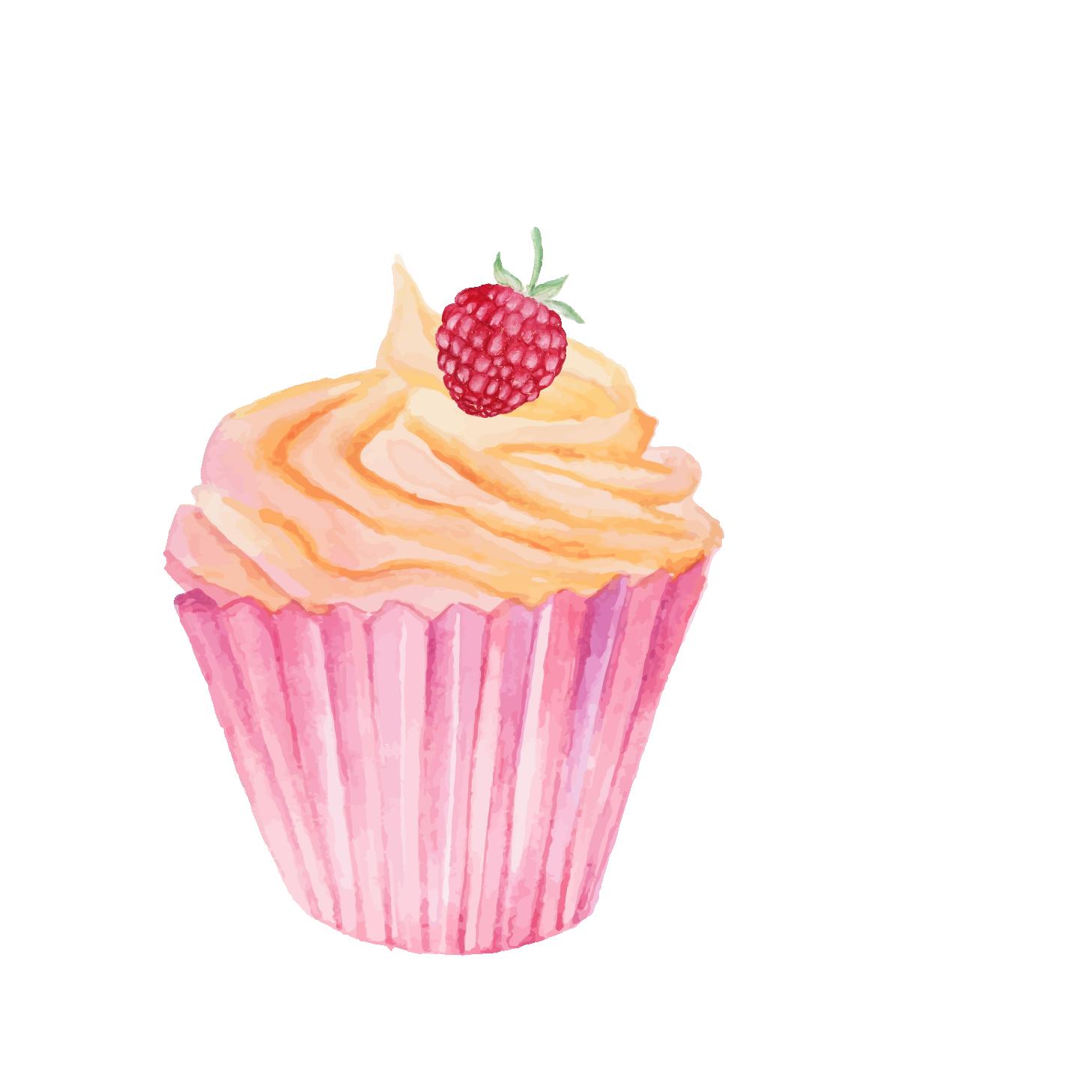 graphic Tart cake transprent png. Baking drawing cupcake