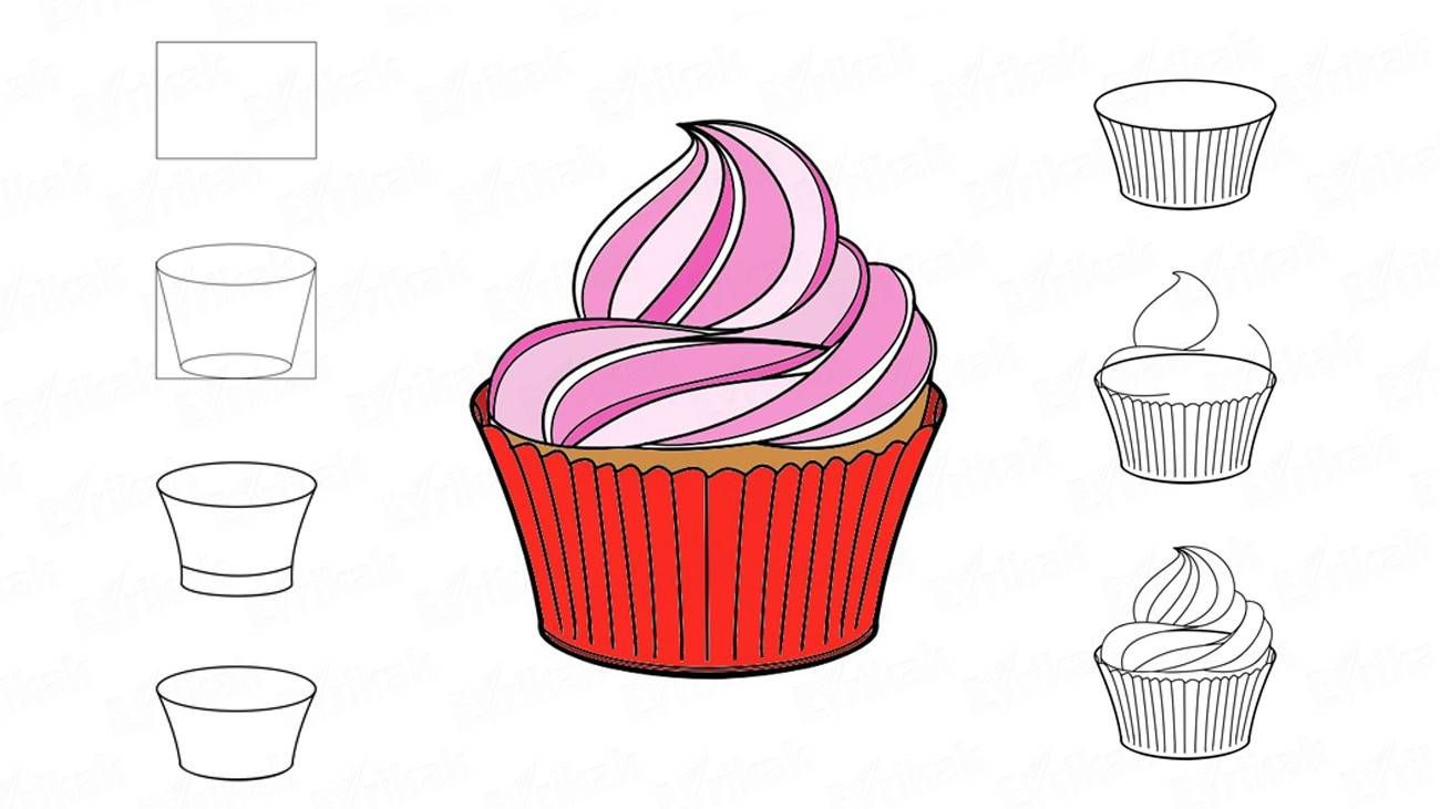 image black and white download Drawing cupcake frosting. Image result for how