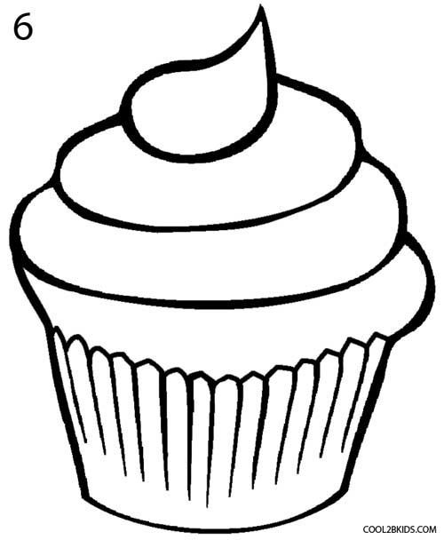 graphic royalty free library How to draw a. Drawing cupcake frosting