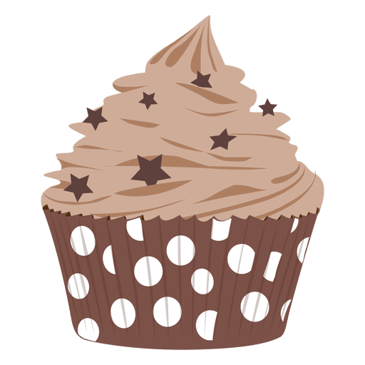 picture royalty free library Drawing cupcake frosting. Chocolate illustration transparent png