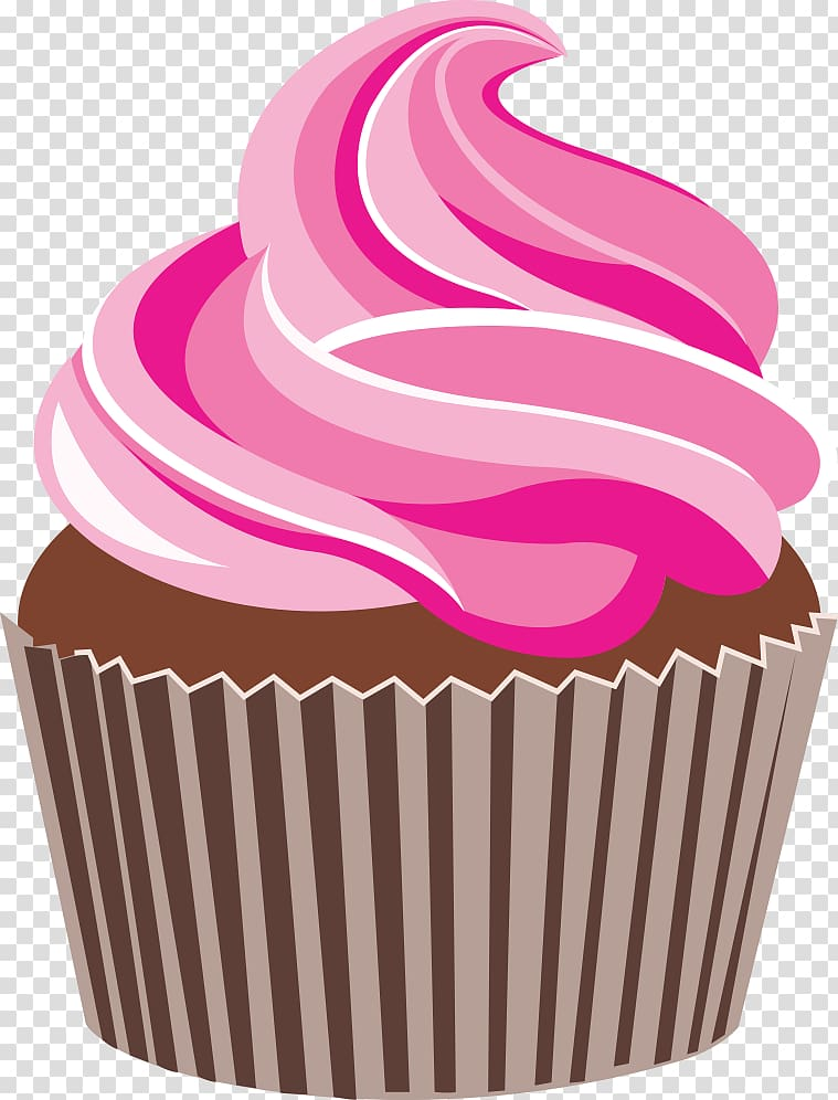 graphic black and white library Drawing cupcake pink. Cake transparent background png