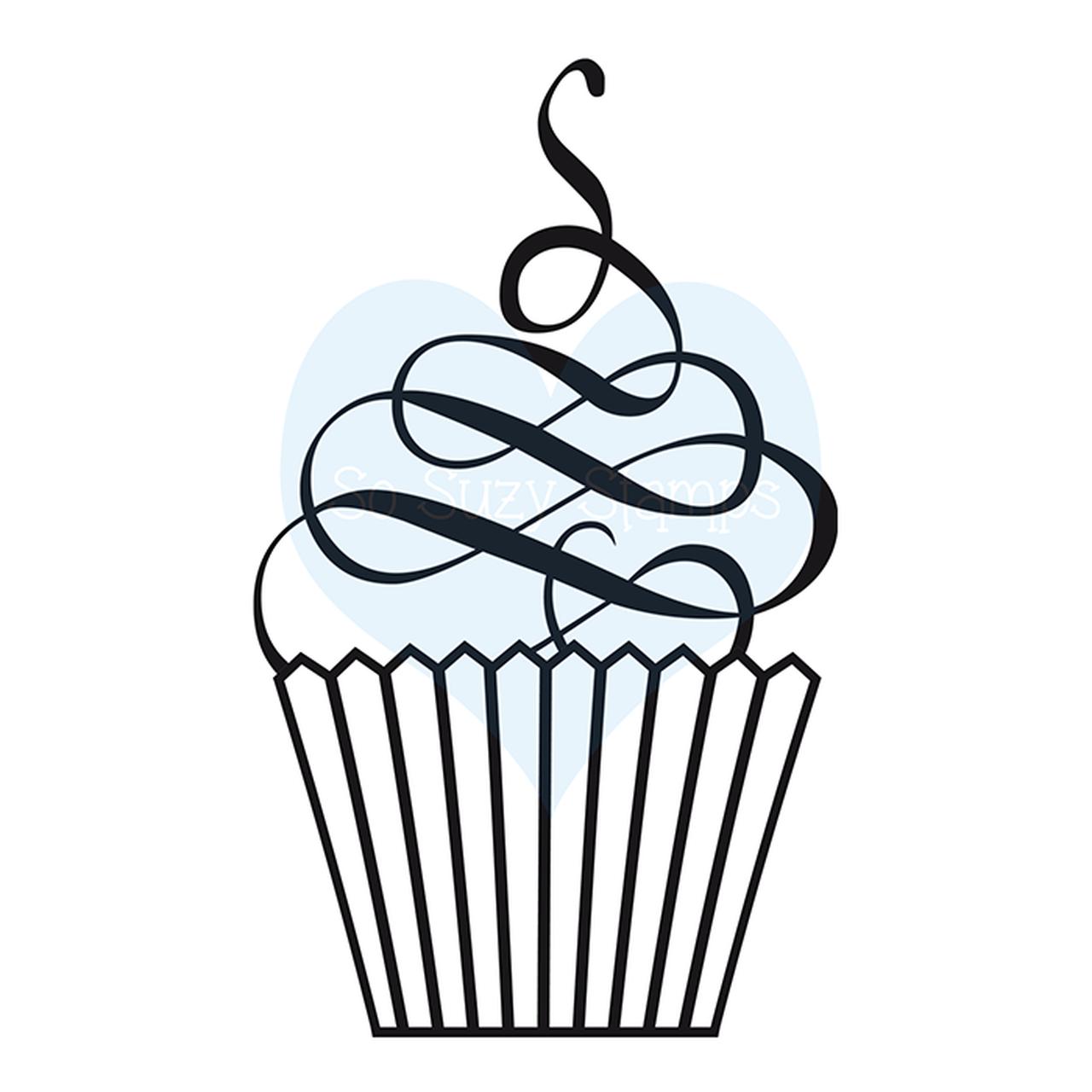clip art royalty free download Baking drawing swirl. Skinny cupcake